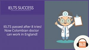 colombian doctor passes IELTS