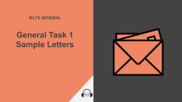 General Task 1 sample letters